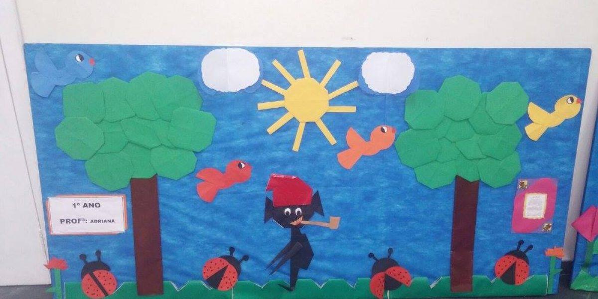 Os nossos alunos produziram lindos painéis para a Semana do Folclore